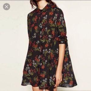 Zara l La Fleur Button Down Shirt Dress